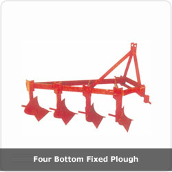 Four Bottom Fixed Plough